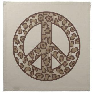 Leopard Peace Symbol Napkin