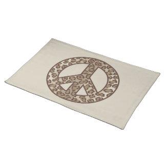 Leopard Peace Symbol Placemat