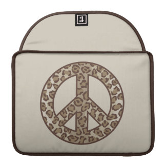 Leopard Peace Symbol Sleeve For MacBooks