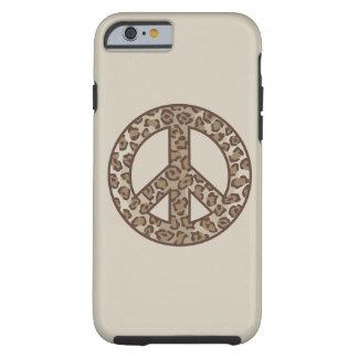 Leopard Peace Symbol Tough iPhone 6 Case
