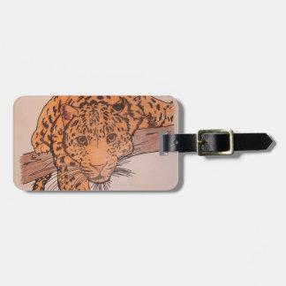 leopard pencil luggage tag