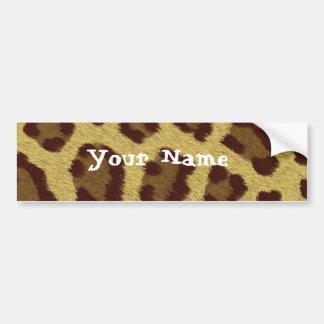 Leopard Personalized Bumper Sticker