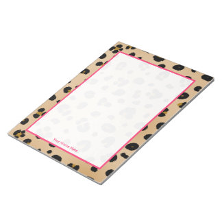 Leopard Personalized Notepad