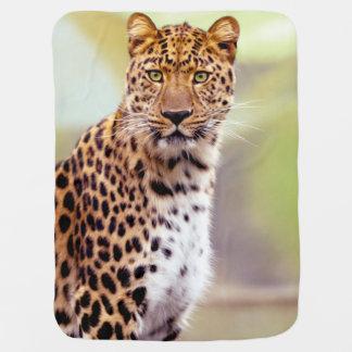 Leopard Photograph Receiving Blanket
