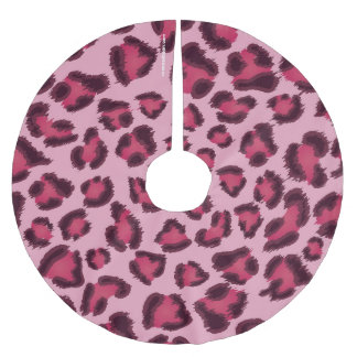 Leopard Pink Christmas Tree Skirt