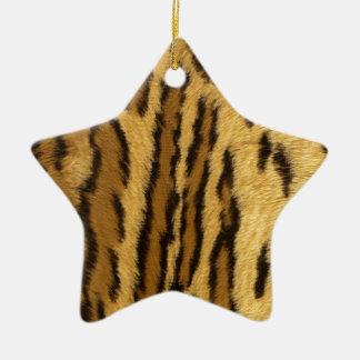 Leopard Pint exotic animal Ceramic Star Decoration