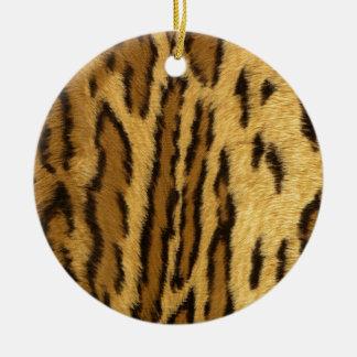 Leopard Pint exotic animal Round Ceramic Decoration