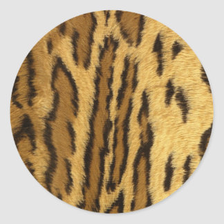 Leopard Pint exotic animal Round Sticker