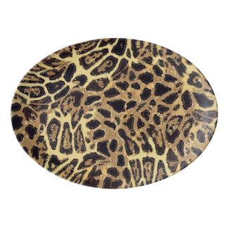 Leopard Porcelain Coupe Platter