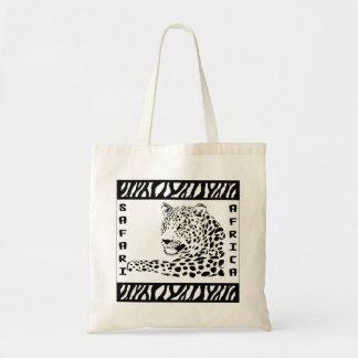 Leopard Portrait Safari Style Tote Bag