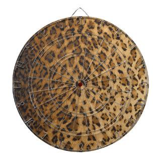 Leopard Print A monogram initials Dartboards