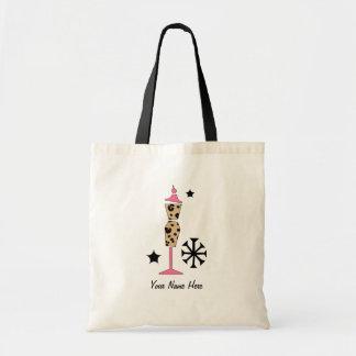 Leopard Print and Pink Dress Form Bag