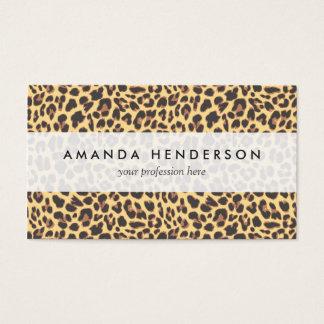Leopard Print Animal Skin Pattern Business Card