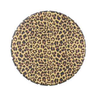 Leopard Print Animal Skin Pattern Jelly Belly Candy Tin
