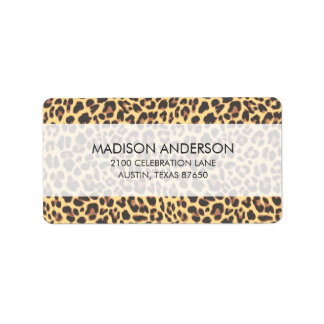 Leopard Print Animal Skin Pattern Label