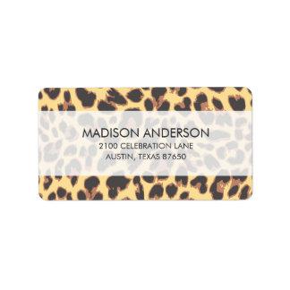 Leopard Print Animal Skin Patterns Address Label