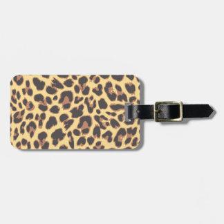 Leopard Print Animal Skin Patterns Bag Tag