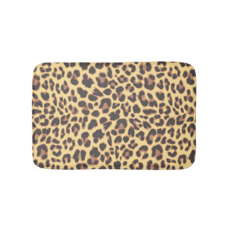 Leopard Print Animal Skin Patterns Bath Mat
