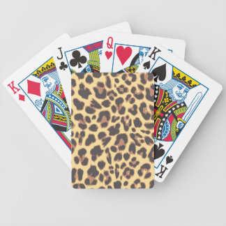 Leopard Print Animal Skin Patterns Bicycle Playing Cards