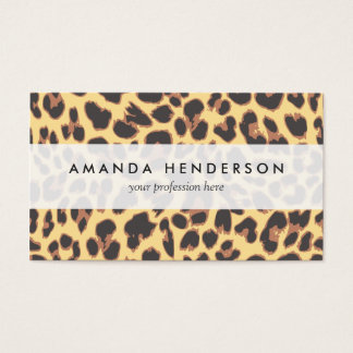 Leopard Print Animal Skin Patterns Business Card