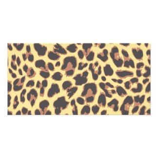 Leopard Print Animal Skin Patterns Card
