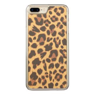 Leopard Print Animal Skin Patterns Carved iPhone 8 Plus/7 Plus Case