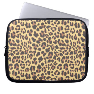 Leopard Print Animal Skin Patterns Computer Sleeve