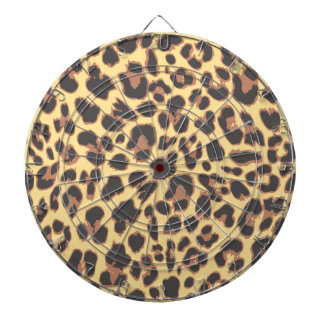 Leopard Print Animal Skin Patterns Dartboard