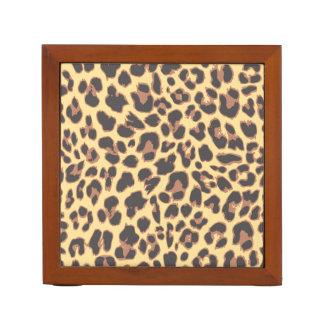 Leopard Print Animal Skin Patterns Desk Organiser