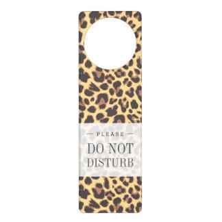 Leopard Print Animal Skin Patterns Door Hanger