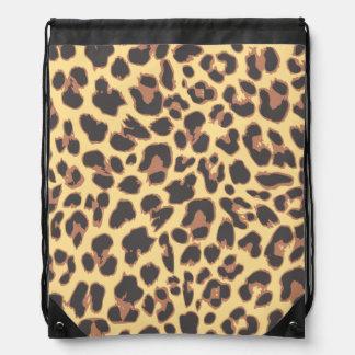 Leopard Print Animal Skin Patterns Drawstring Bag