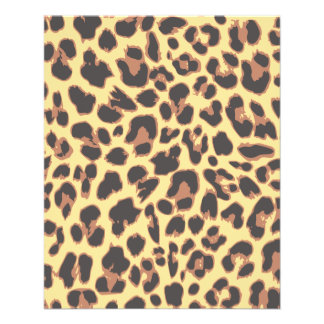 Leopard Print Animal Skin Patterns Flyer