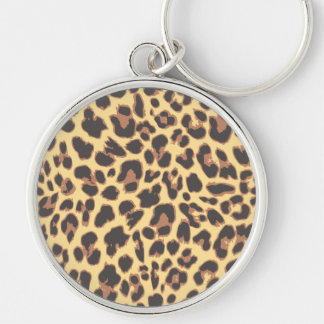 Leopard Print Animal Skin Patterns Key Ring