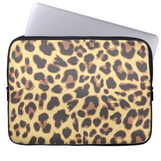 Leopard Print Animal Skin Patterns Laptop Sleeves