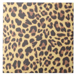 Leopard Print Animal Skin Patterns Large Square Tile