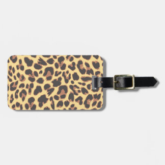 Leopard Print Animal Skin Patterns Luggage Tag