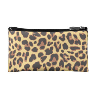 Leopard Print Animal Skin Patterns Makeup Bag