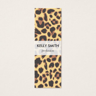 Leopard Print Animal Skin Patterns Mini Business Card