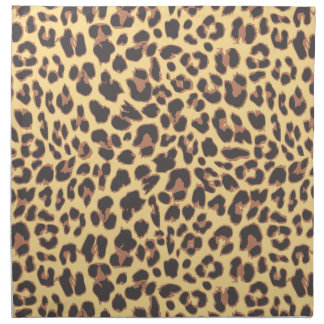 Leopard Print Animal Skin Patterns Napkin
