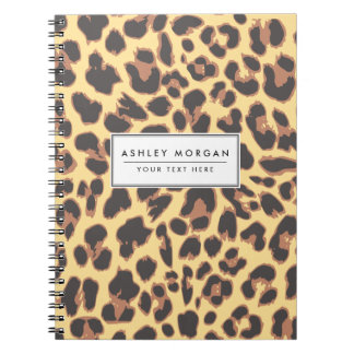 Leopard Print Animal Skin Patterns Notebooks