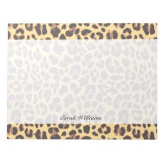 Leopard Print Animal Skin Patterns Notepad
