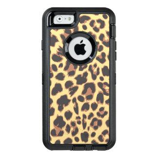 Leopard Print Animal Skin Patterns OtterBox Defender iPhone Case
