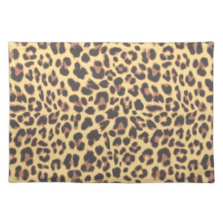 Leopard Print Animal Skin Patterns Placemat