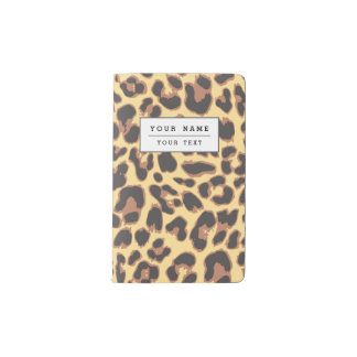 Leopard Print Animal Skin Patterns Pocket Moleskine Notebook