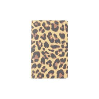 Leopard Print Animal Skin Patterns Pocket Moleskine Notebook