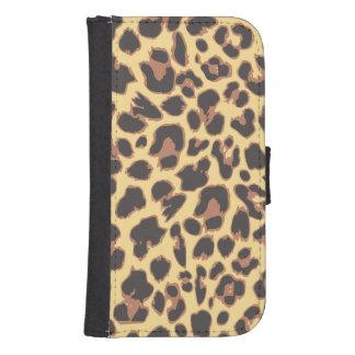 Leopard Print Animal Skin Patterns Samsung S4 Wallet Case