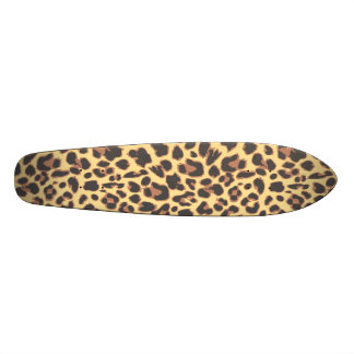 Leopard Print Animal Skin Patterns Skateboard Decks