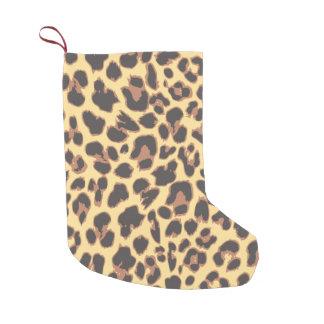 Leopard Print Animal Skin Patterns Small Christmas Stocking