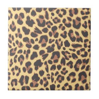 Leopard Print Animal Skin Patterns Small Square Tile