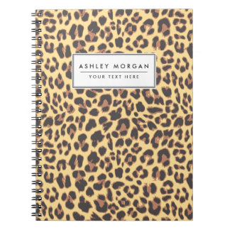 Leopard Print Animal Skin Patterns Spiral Notebook